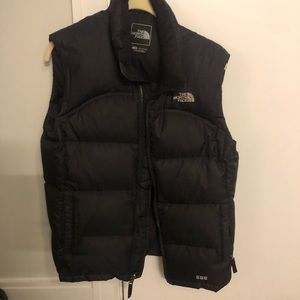 North face black vest girls large